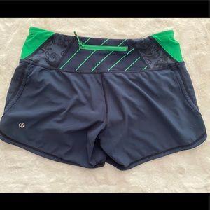 Lululemon Lined Workout Shorts Blue Medium